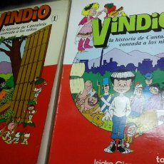 Libros de segunda mano: VINDIO.LA HISTORIA DE CANTABRIA CONTADA A LOS NIÑOS.1979-1980.1EDICION.. Lote 86860914
