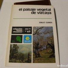 Libri di seconda mano: EL PAISAJE VEGETAL DE VIZCAYA DE EMILIO GUINEA. Lote 86915688