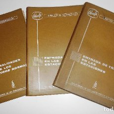 Libros de segunda mano: GENERALIDADES SOBRE LOS BLOQUEOS NORMALES. ENTRADAS DE LAS ESTACIONES TOMOS 1 Y 2. (RENFE). Lote 86938276