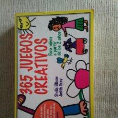 Libros de segunda mano: 365 JUEGOS CREATIVOS. SHEILA ELLISON. MARTÍNEZ ROCA. RÚSTICA.. Lote 87053868