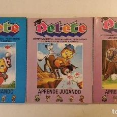 Libros de segunda mano: PETETE APRENDE JUGANDO, REVISTAS DEL 52 AL 59, DEL 84 AL 91, DEL 92 AL 99. ENCUADERNADAS BUEN ESTADO. Lote 87107768
