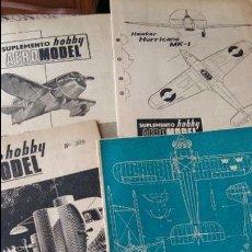 Libros de segunda mano: LOTE 4 SUPLEMENTOS HOBBY AEROMODEL N° 382 384 389 390 AÑOS 60 CON MAQUETAS AEROMODELISMO VER FOTOS . Lote 87420300