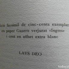 Libros de segunda mano: TARRACO QUANTA FUIT... 1985. EDICION FACSIMIL. TIRADA DE 600 EJEMPLARES. Lote 209779105