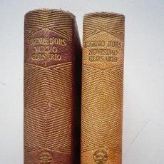 Libros de segunda mano: EUGENIO D'ORS - NOVÍSIMO GLOSARIO + NUEVO GLOSARIO I - AGUILAR - 1946-47. Lote 87579872