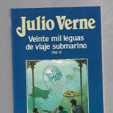 Libros de segunda mano: JULIO VERNE. VEINTE MIL LEGUAS DE VIAJE SUBMARINO. VOL.I. EDICIONES ORBIS. 1986. Lote 87745468