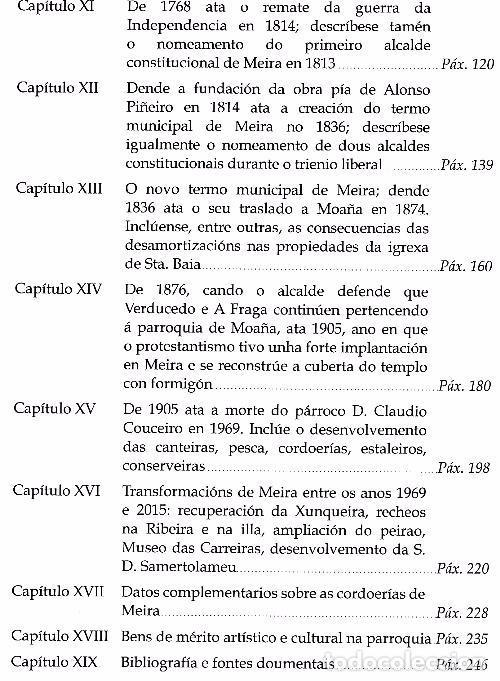 Libros de segunda mano: B644 - PARROQUIA DE SANTA BAIA DE MEIRA. MOAÑA. UXIO GARCIA BARREIRO. PONTEVEDRA. GALICIA. NUEVO. - Foto 13 - 117398192