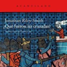 Libros de segunda mano: ¿QUÉ FUERON LAS CRUZADAS?. - RILEY-SMITH, JONATHAN.. Lote 52784286