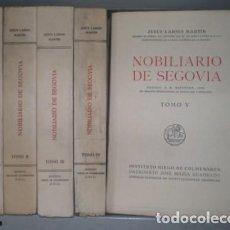 Libros de segunda mano: LARIOS MARTIN, JESÚS: NOBILIARIO DE SEGOVIA. 5 VOLÚMENES, COMPLETO. Lote 88159064