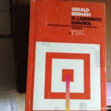 Libros de segunda mano: EL LABERINTO ESPAÑOL. GERALD BRENAN. Lote 88446619