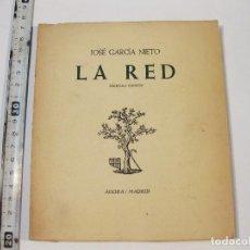 Libros de segunda mano: LA RED - JOSE MARÍA NIETO CON DEDICATORIA A JAVIER ALEIXANDRE - EDICION AGORA - MADRID 1956. Lote 88742024