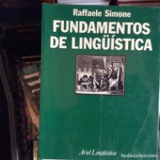 Libros de segunda mano: FUNDAMENTOS DE LINGÜÍSTICA . RAFFAELE SIMONE. Lote 88945914