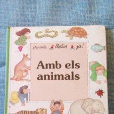 Libros de segunda mano: AMB ELS ANIMALS - EDITORIAL FHER - 1991 - PARA NIÑOS DE 4-5-6 AÑOS. Lote 88993144