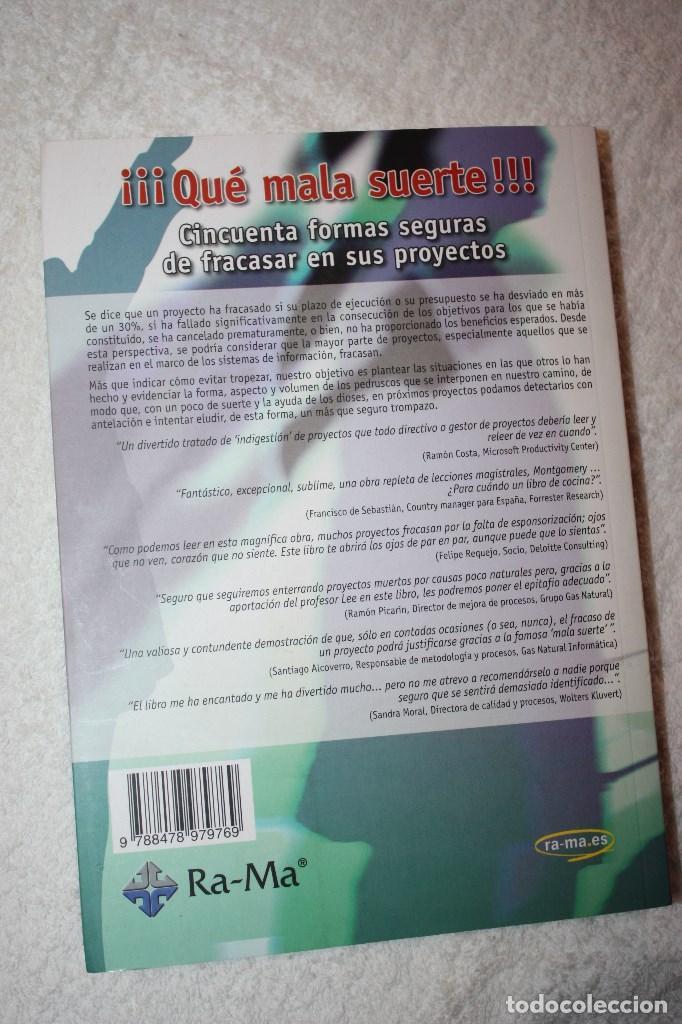 Libros de segunda mano: ¡¡¡ QUÉ MALA SUERTE !!! CINCUENTA FORMAS SEGURAS DE FRACASAR EN SUS PROYECTOS DR. MONTGOMERY LEE - Foto 2 - 89002464