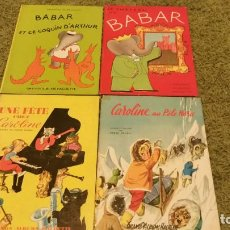 Libros de segunda mano: LOTE DE GRANDES ALBUMES HACHETTE 1965 EN FRANCÉS - EL CASTILLO DE BABAR, ARTHUR, Y CAROLINE . Lote 89117232