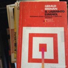 Libros de segunda mano: EL LABERINTO ESPAÑOL. GERALD BRENAN. Lote 89134735