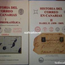 Libros de segunda mano: HISTORIA DEL CORREO EN CANARIAS.DOS TOMOS. FILATELIA.AGUSTIN DE LEON.JUAN CARLOS PÉREZ. Lote 89316404