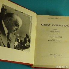 Libros de segunda mano: OBRAS COMPLETAS GREGORIO MARAÑÓN. TOMO I - PRÓLOGOS. RECOPILACIÓN Y NOTAS ALFREDO JUDERÍAS. Lote 89479860