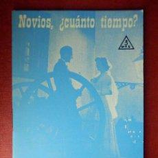 Libros de segunda mano: FOLLETOS ID EDITORIAL SAL TERRAE - 66 A - NOVIOS ¿ CUANTO TIEMPO ?... - 20 PAG. - 12 X 8,5 CM. Lote 89556748