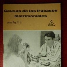 Libros de segunda mano: FOLLETOS ID EDITORIAL SAL TERRAE - 245 F - CAUSAS DE LOS FRACASOS MATRIMONIALES - 32 PAG 12 X 8,5 CM. Lote 89557040