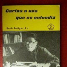 Libros de segunda mano: FOLLETOS ID EDITORIAL SAL TERRAE - 210 L - CARTAS A UNO QUE NO ENTENDIA - 40 PAG 12 X 8,5 CM. Lote 89557144