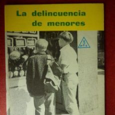 Libros de segunda mano: FOLLETOS ID EDITORIAL SAL TERRAE - 263 S - LA DELINCUENCIA DE MENORES - 32 PAG 12 X 8,5 CM. Lote 89557364
