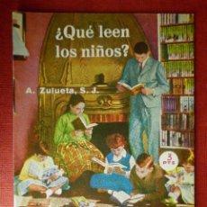 Libros de segunda mano: FOLLETOS ID EDITORIAL SAL TERRAE - 171 S - QUE LEEN LOS NIÑOS - 16 PAG 12 X 8,5 CM. Lote 230122075