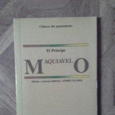Libros de segunda mano: EL PRÍNCIPE - MAQUIAVELO - ANDRÉS PLUMED. Lote 89625824