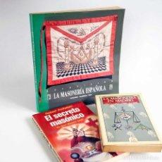 Libros de segunda mano: LOTE MASONERÍA. 3 LIBROS. Lote 89702292