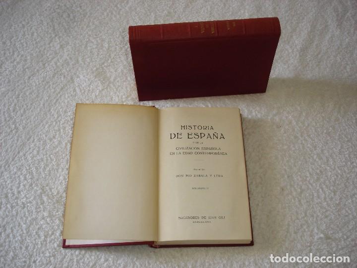 HISTORIA DE ESPAÑA Y DE LAS CIVILIZACIÓN ESPAÑOLA EN LA EDAD CONTEMPORÁNEA (2 TOMOS) - ZABALA Y LERA (Libros de Segunda Mano - Historia - Otros)