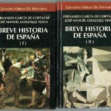 Libros de segunda mano: GRANDES OBRAS DE HISTORIA - BREVE HISTORIA DE ESPAÑA (DOS TOMOS) - 20,5 X 12,5 - 740 PAGINAS . Lote 89907576