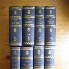 Libros de segunda mano: 8 LIBROS ALEJANDRO DUMAS EDITORIAL LORENZANA SEMIL PIEL CANTOS CORADOS . Lote 90026884
