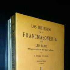 Libros de segunda mano: LOS MISTERIOS DE LA FRANCMASONERIA / TOMOS I Y II / LEO TAXIL / PRECINTADO. Lote 90353928