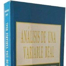 Libros de segunda mano: ANÁLISIS DE UNA VARIABLE REAL. (CÁLCULO DIFERENCIAL E INTEGRAL) MARTÍNEZ CARRACEDO. Lote 90389832