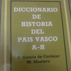 Libros de segunda mano: DICCIONARIO DE HISTORIA DEL PAÍS VASCO. Lote 90422057