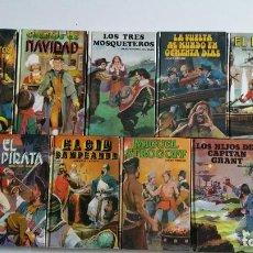 Libros de segunda mano: LOTE NOVELA JUVENILES Y AVENTURAS EDICIONES EDITORS - DALMAU SOCIAS - DE JULIO VERNE, DICKENS, SCOTT. Lote 90497525