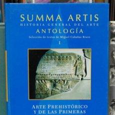 Libros de segunda mano: SUMMA ARTIS. HISTORIA GENERAL DEL ARTE. ANTOLOGIA. VOLUMEN I. ESPASA. MADRID. 2004. Lote 90516860