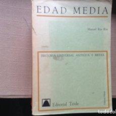 Libros de segunda mano: EDAD MEDIA. MANUEL RIU RIU.. Lote 90636540