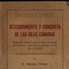 Gebrauchte Bücher - DESCUBRIMIENTO Y CONQUISTA DE LAS ISLAS CANARIAS. - 90714150