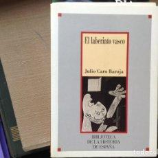 Libros de segunda mano: EL LABERINTO VASCO. JULIO CARO BAROJA. Lote 90932264