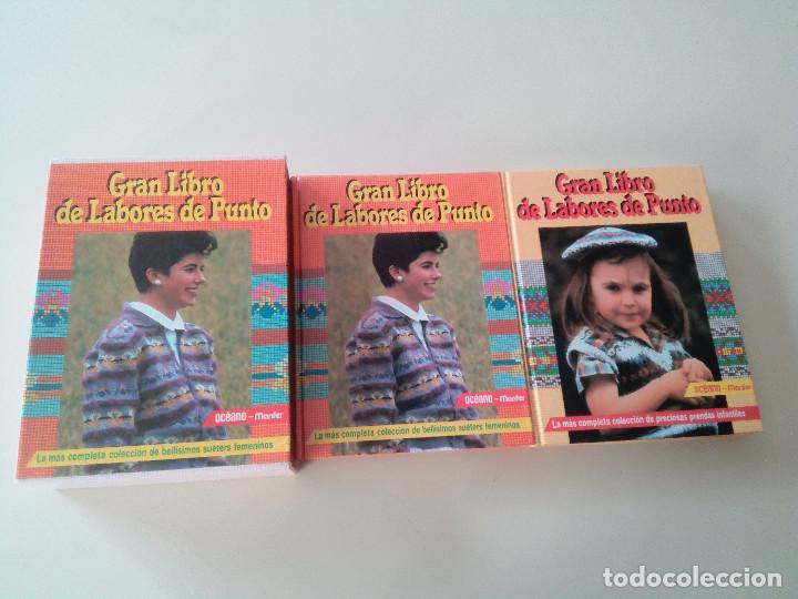 GRAN LIBRO DE LABORES DE PUNTO-4 TOMOS-COMPLETA-EDITA MANFER ED.-1986-TAPA DURA-ESTUCHE (Libros de Segunda Mano - Ciencias, Manuales y Oficios - Otros)