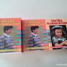 Libros de segunda mano: GRAN LIBRO DE LABORES DE PUNTO-4 TOMOS-COMPLETA-EDITA MANFER ED.-1986-TAPA DURA-ESTUCHE. Lote 90999000