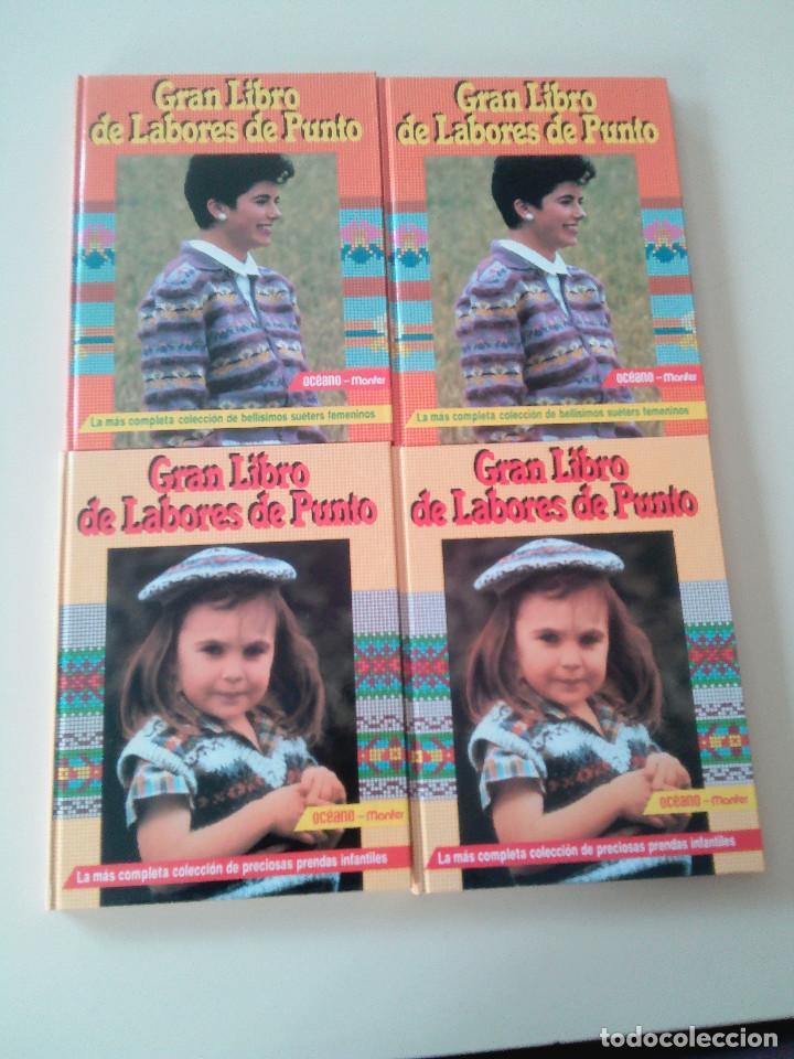 Libros de segunda mano: GRAN LIBRO DE LABORES DE PUNTO-4 TOMOS-COMPLETA-EDITA MANFER ED.-1986-TAPA DURA-ESTUCHE - Foto 2 - 90999000