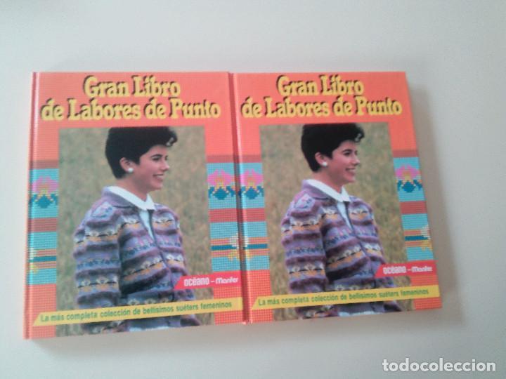 Libros de segunda mano: GRAN LIBRO DE LABORES DE PUNTO-4 TOMOS-COMPLETA-EDITA MANFER ED.-1986-TAPA DURA-ESTUCHE - Foto 3 - 90999000