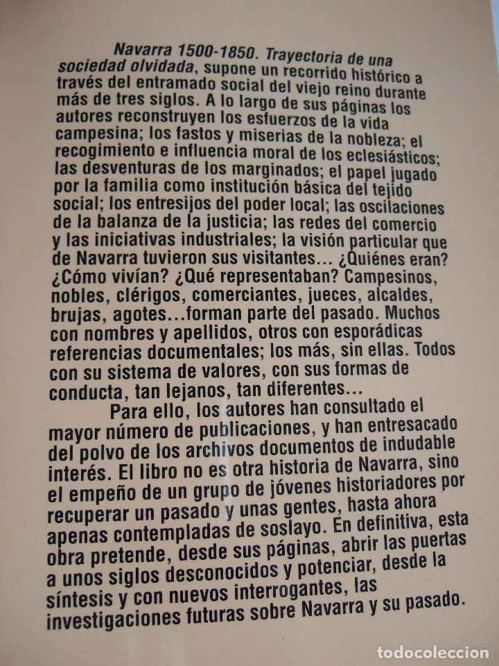 Libros de segunda mano: NAVARRA 1500-1850 - TRAYECTORIA DE UNA SOCIEDAD OLVIDADA - 223 PAGINAS-TAPAS DURAS CON SOBRECUBIERTA - Foto 2 - 91009560