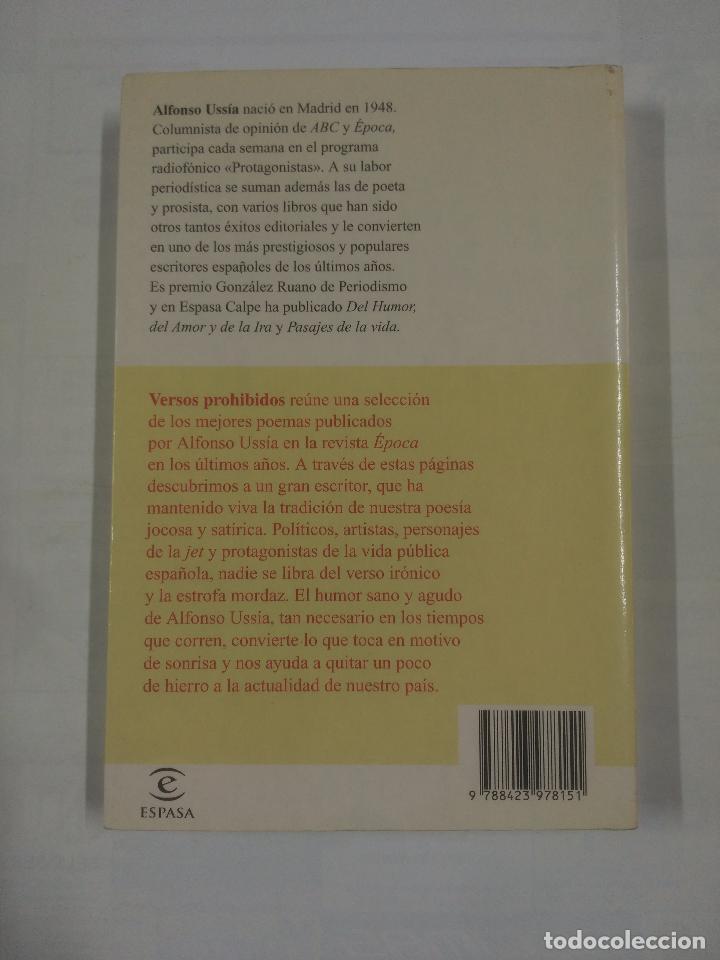 Libros de segunda mano: VERSOS PROHIBIDOS (LA DECADA PERVERSA). - USSIA, ALFONSO. TDK179 - Foto 2 - 91076900