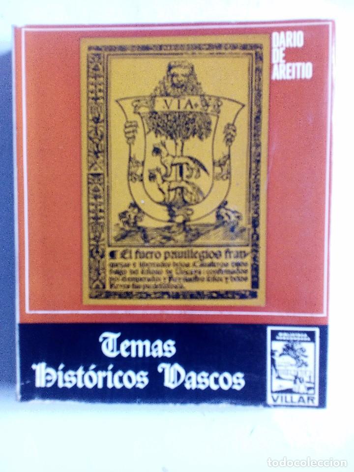 TEMAS HISTÓRICOS VASCOS DARÍO DE AREITIO BIBLIOTECA VASCONGADA VILLAR 1969 (Libros de Segunda Mano - Historia - Otros)