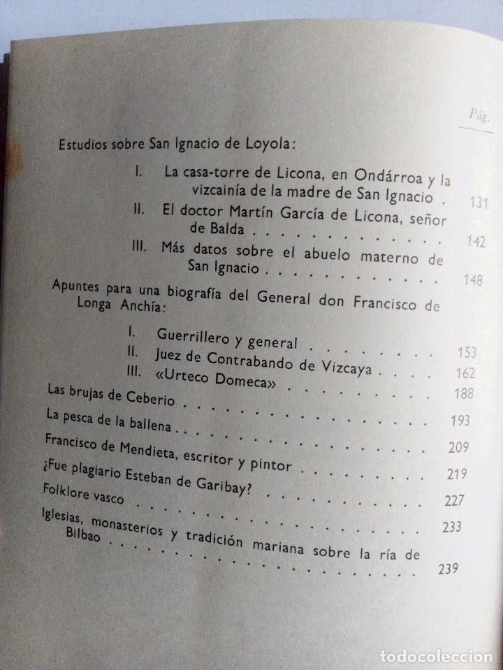 Libros de segunda mano: TEMAS HISTÓRICOS VASCOS DARÍO DE AREITIO BIBLIOTECA VASCONGADA VILLAR 1969 - Foto 7 - 91132145