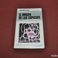 Libros de segunda mano: EL ORIGEN DE LAS ESPECIES - DARWIN - BIBLIOTECA EDAF BOLSILLO - CIB. Lote 91132700