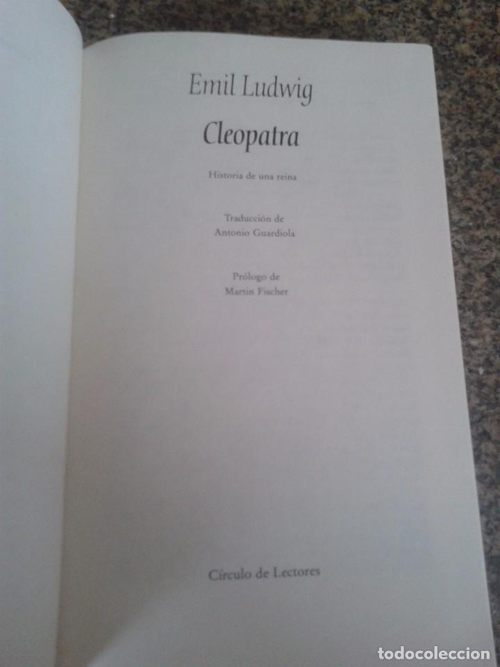 Libros de segunda mano: CLEOPATRA -- EMIL LUDWIG -- MUJERES DE NOVELA - CIRCULO - 1993 -- - Foto 2 - 91249775