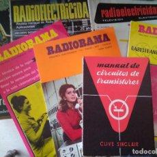 Libros de segunda mano: LOTE REVISTAS RADIOS, ELECTRICIDAD, TRANSISTORES. RADIORAMA, RADIOELECTRICIDAD. Lote 91554805
